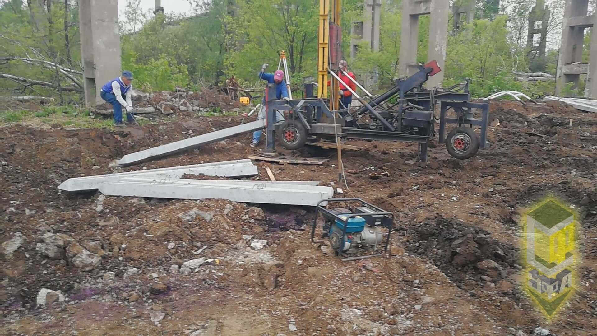 Свайный фундамент в п. Шакша