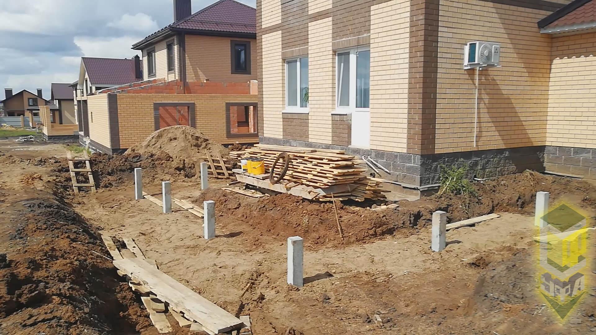 Свайный фундамент для банного комплекса в с. Михайловка