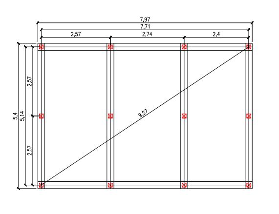 Проект свайного фундамента для бани 5 на 8 в д. Осоргино