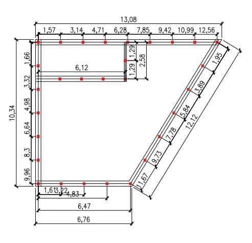 Проект свайного фундамента для гаража 10 на 13 в д. Осоргино