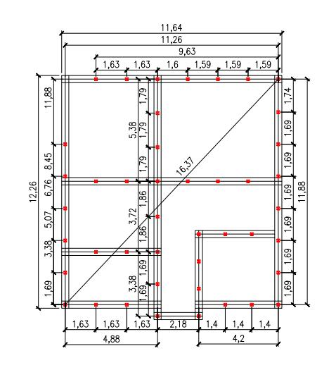 Проект свайного фундамента для дома 12 на 12 в д. Осоргино