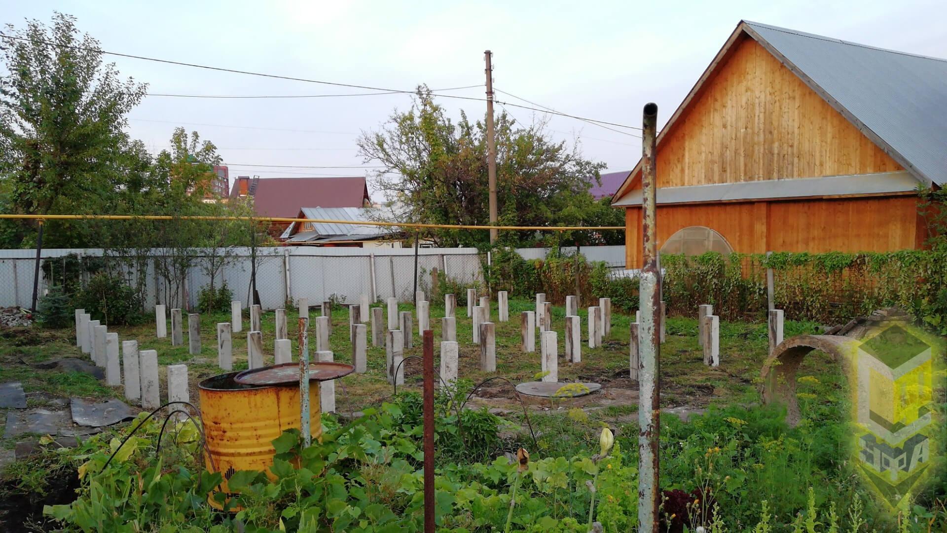 Свайный фундамент для дома 9 на 9 в мкр. Дема