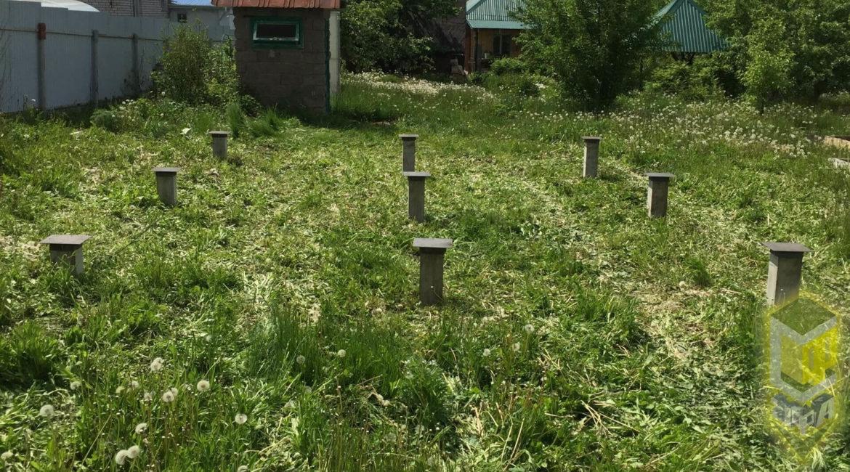 Свайный фундамент для дома 6 на 4 в п. Иглино