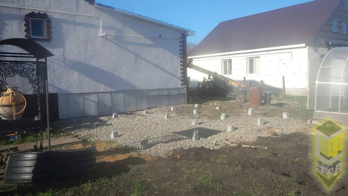 Свайный фундамент для бассейна п. Иглино