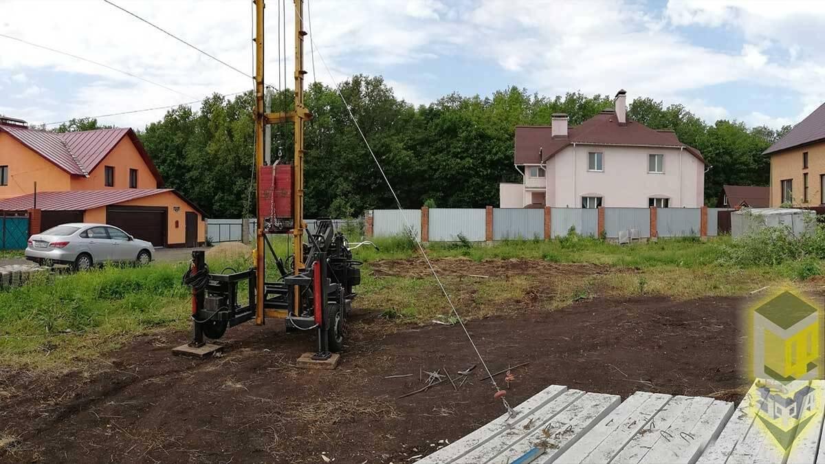 Свайный фундамент для дома 10 на 11 с. Михайловка
