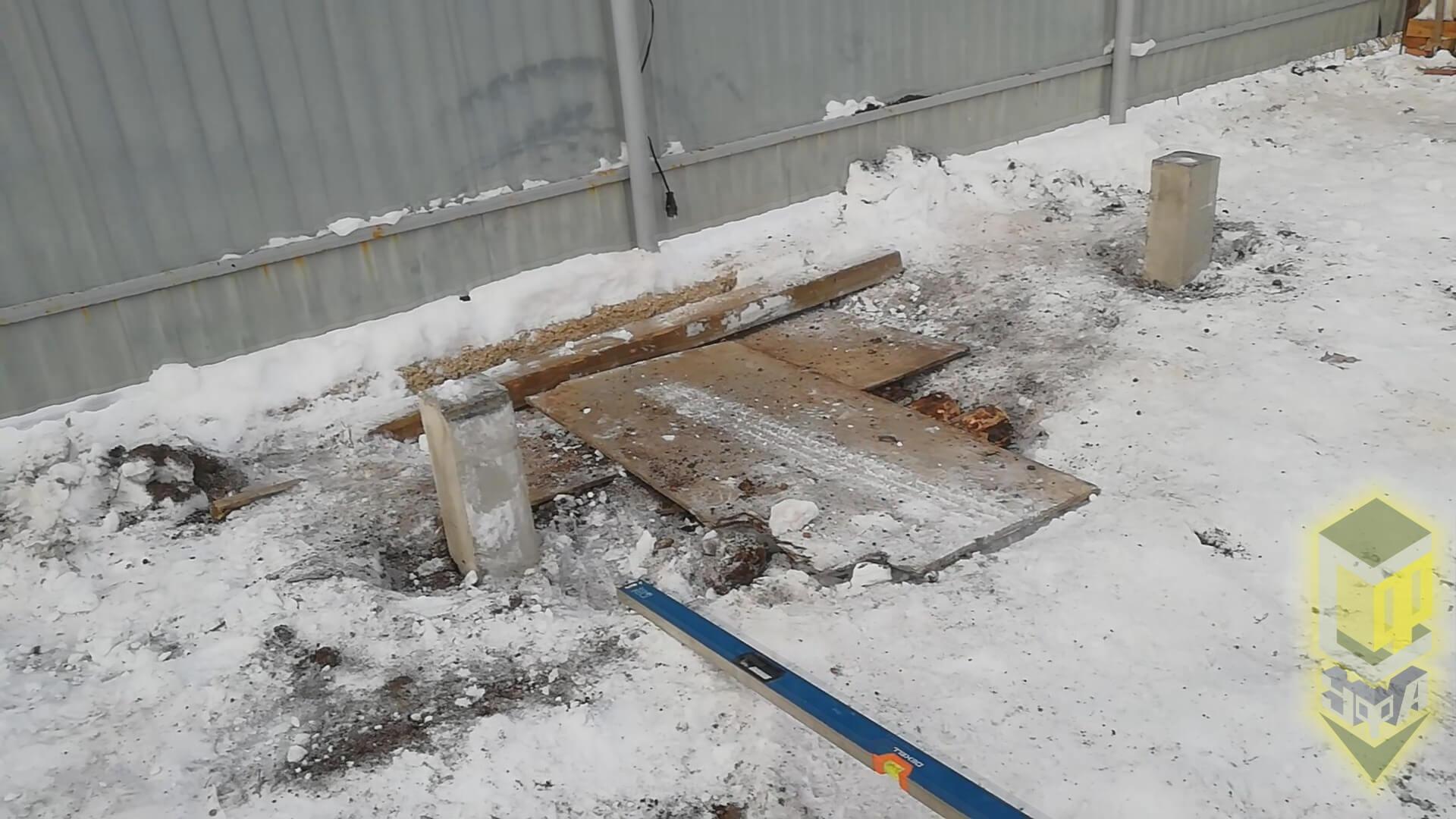Свайный фундамент для бани 8 на 9 в с. Нагаево