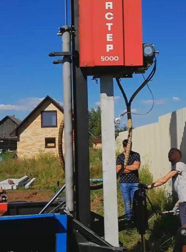 Свайный фундамент для дома 23 на 11 г. Нефтекамск
