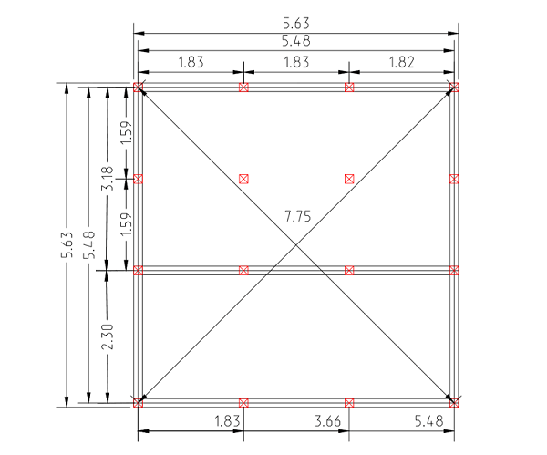 Проект свайного фундамента для дома 6 на 6 в п. Новомихайловка