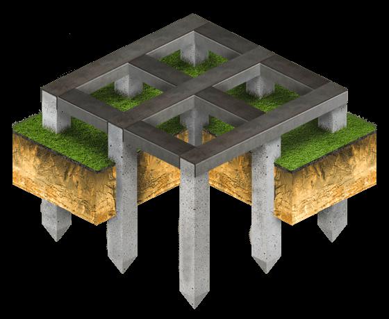 Свайно-металличесчкий фундамент