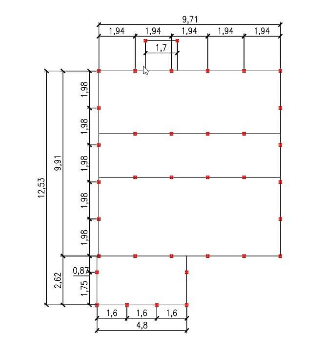 Проект свайного фундамента для коттеджа 10 на 12 в д. Осоргино
