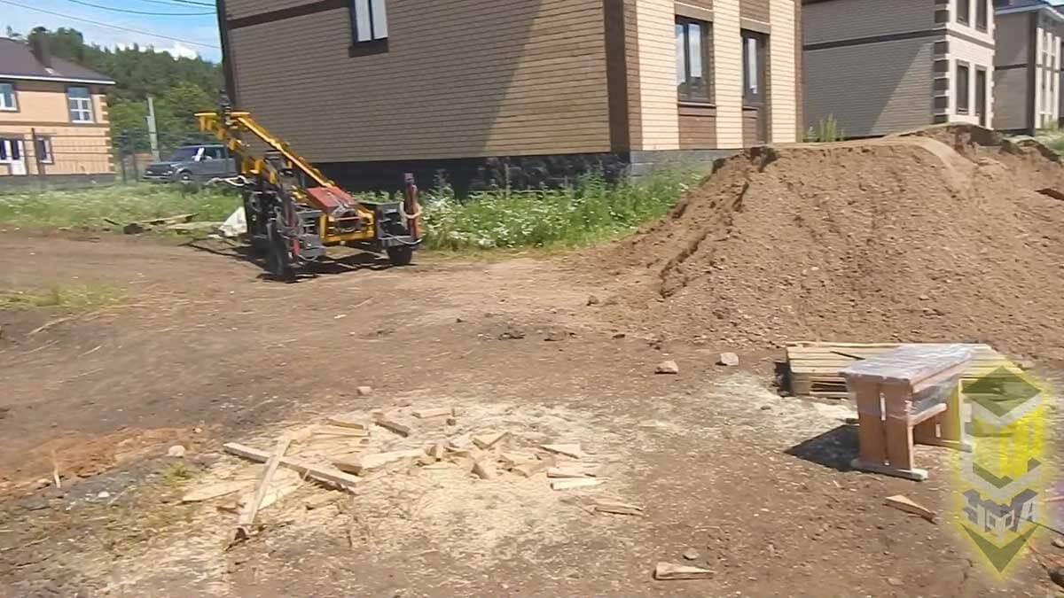Свайный фундамент для террасы с. Михайловка