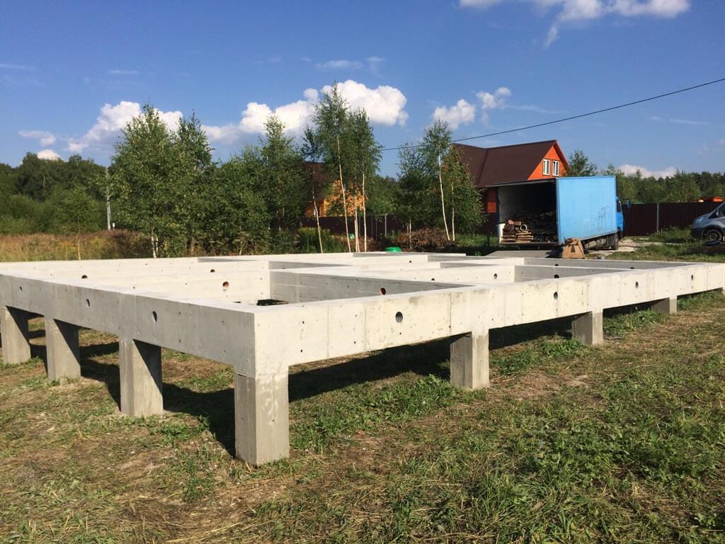 Свайно-ростверковый фундамент для дома