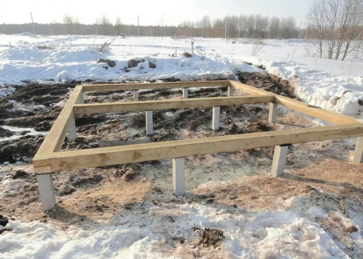 Фундамент для бани в Уфе