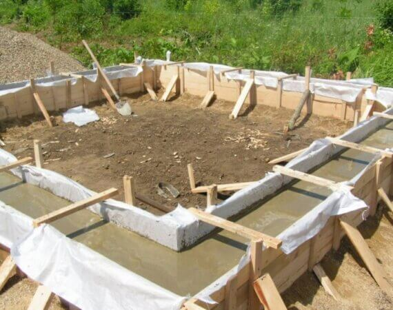 Ошибки при бетонировании фундамента