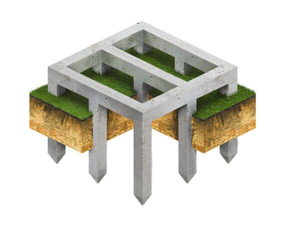 Свайно-ленточный фундамент