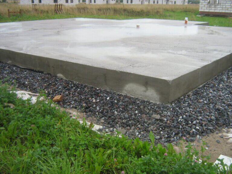Плитный фундамент для частного дома