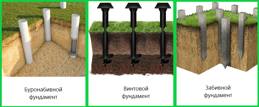Свайный фундамент - Виды, плюсы и минусы