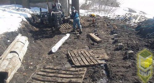 Cвайный фундамент для укрепления берега 60 метров в мкр. Затон